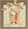 Santa Canvas Ornament