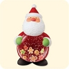 2007 Sweet Tooth Santa Shaker Snow Globe - cookies!Hallmark Christmas Ornament