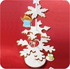 2007 Gingerbread Ornament Set & Display Hallmark Christmas Ornament