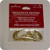 "Brass 1"" Ornament Hooks - Pkg of 20"