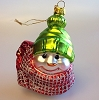 Snowmen of Mitford - Blown Glass Green Hat