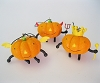 2011 Halloween - Pumpkin People - Set/3Hallmark Christmas Ornament