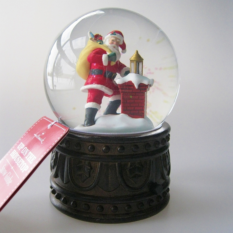 Up On The Housetop Snow Globe At Hooked On Hallmark Ornaments