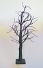 "Halloween - PURPLE LED Lighted 24"" Black Glittered Table Top TreeHallmark Christmas Ornament"