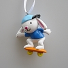 Bunny on Skateboard OrnamentHallmark Christmas Ornament