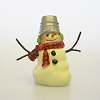 Bucket Hat Snowman Figurine, Snowmen of Mitford