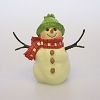 Green Hat Snowman Figurine, Snowmen of Mitford