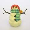 Red Hat Snowman Figurine, Snowmen of Mitford
