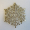 Glitter GOLD Snowflake Ornaments, set of 15