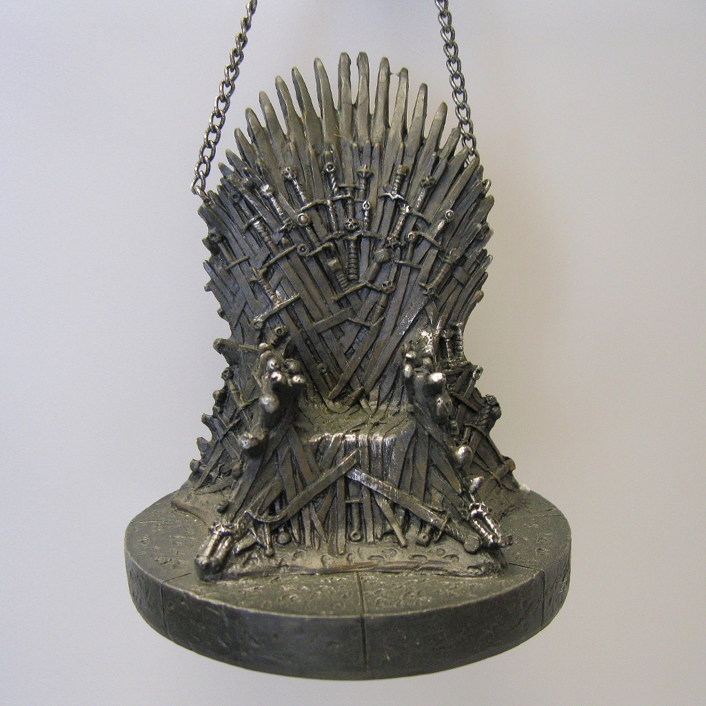 Game of thrones throne ornament hooked on hallmark ornaments for Game of thrones christmas gifts 2016
