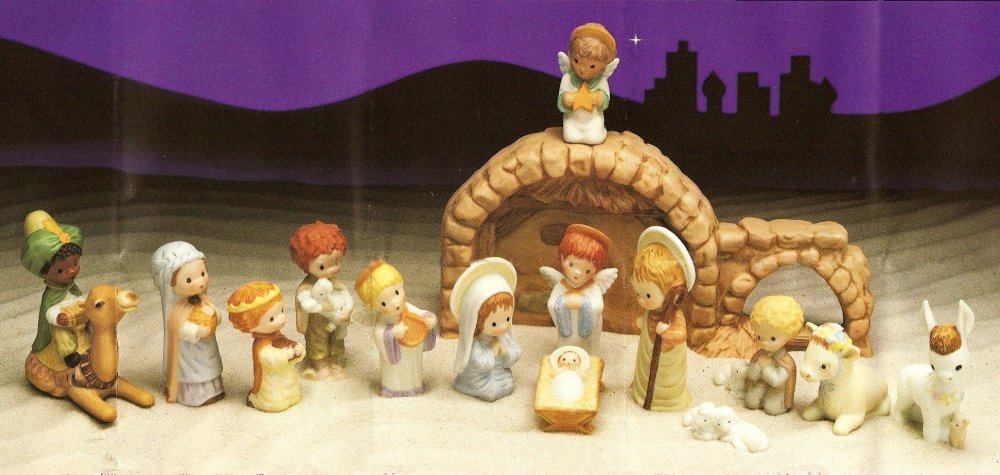 Nativity set hallmark little gallery mary hamilton christmas nativity