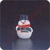 1988 Snowman - Merry MiniatureHallmark Christmas Ornament