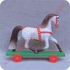 1985 Horse - Merry MiniatureHallmark Christmas Ornament