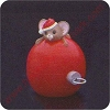 1986 Mouse on Ornament - Merry Miniature Container