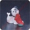 1987 Puppy - Merry MiniatureHallmark Christmas Ornament