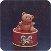 1982 Teddy Bear on Drum - Merry Miniature
