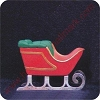 1980 Sleigh - Merry MiniatureHallmark Christmas Ornament