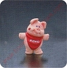 1990 Pig - Merry MiniatureHallmark Christmas Ornament