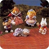 1996 Alice in Wonderland, set of 5 - Merry Miniatures