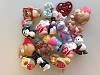GRAB BAG of TEN VALENTINE Merry Miniatures - figurinesHallmark Christmas Ornament