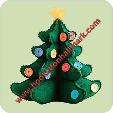 Hallmark Button Christmas Tree Ornaments