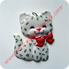 1980 Christmas Kitten Test - RAREHallmark Christmas Ornament