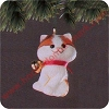 1982 Christmas KittenHallmark Christmas Ornament
