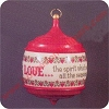 1983 Love Hallmark Christmas Ornament