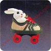 1984 Roller Skating Rabbit Hallmark Christmas Ornament
