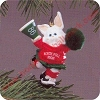 1986 Rah Rah Rabbit Hallmark Christmas Ornament