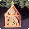 1987 Miniature Creche #3Hallmark Christmas Ornament