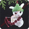1989 Cranberry BunnyHallmark Christmas Ornament