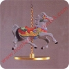 1989 Christmas Carousel, HollyHallmark Christmas Ornament