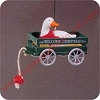 1990 Goose CartHallmark Christmas Ornament
