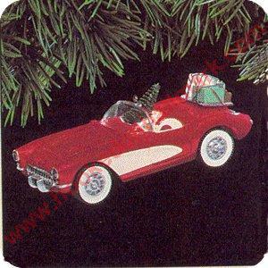 1991 classic american cars 1 1957 corvette hallmark for Classic house 1991
