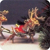 1992 Santa and Reindeer, Dasher DancerHallmark Christmas Ornament