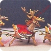 1992 Santa and Reindeer, Comet CupidHallmark Christmas Ornament