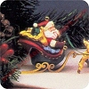 1992 Santa and Reindeer, Santa Claus Sled - NB