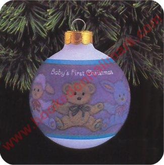 Baby Boy First Christmas Ornament