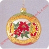 1998 Holiday Traditions #1 - Red PoinsettiasHallmark Christmas Ornament