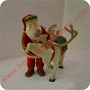 1998 Santas Deer Friend RARE ColorwayHallmark Christmas Ornament