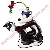 1999 Pepe LePew and Penelope Hallmark Christmas Ornament