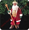 1999 Joyful Santa #1Hallmark Christmas Ornament