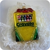 2001 Crayola Blown GlassHallmark Christmas Ornament