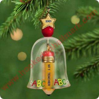 2001 1 Teacher Hallmark Ornament