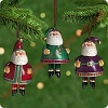 2001 Jolly Santa Bells - set of 3
