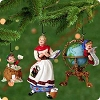 2001 Lettera, Globus and Mrs Claus - set of 3Hallmark Christmas Ornament