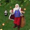 2001 Santa Claus With Panda - set of 2Hallmark Christmas Ornament