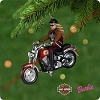 2001 Harley Davidson Barbie DBHallmark Christmas Ornament