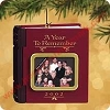 2002 Year To Remember - Records message! - DBHallmark Christmas Ornament